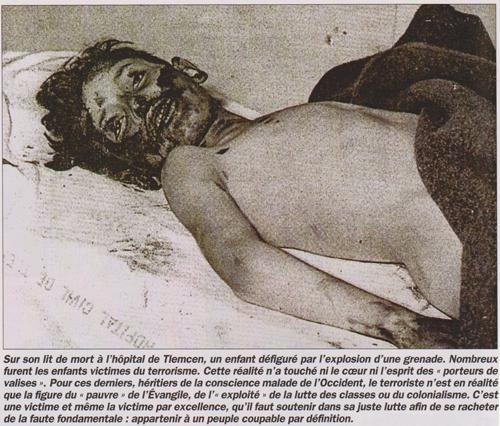 FLN crime enfant algérie terrorisme
